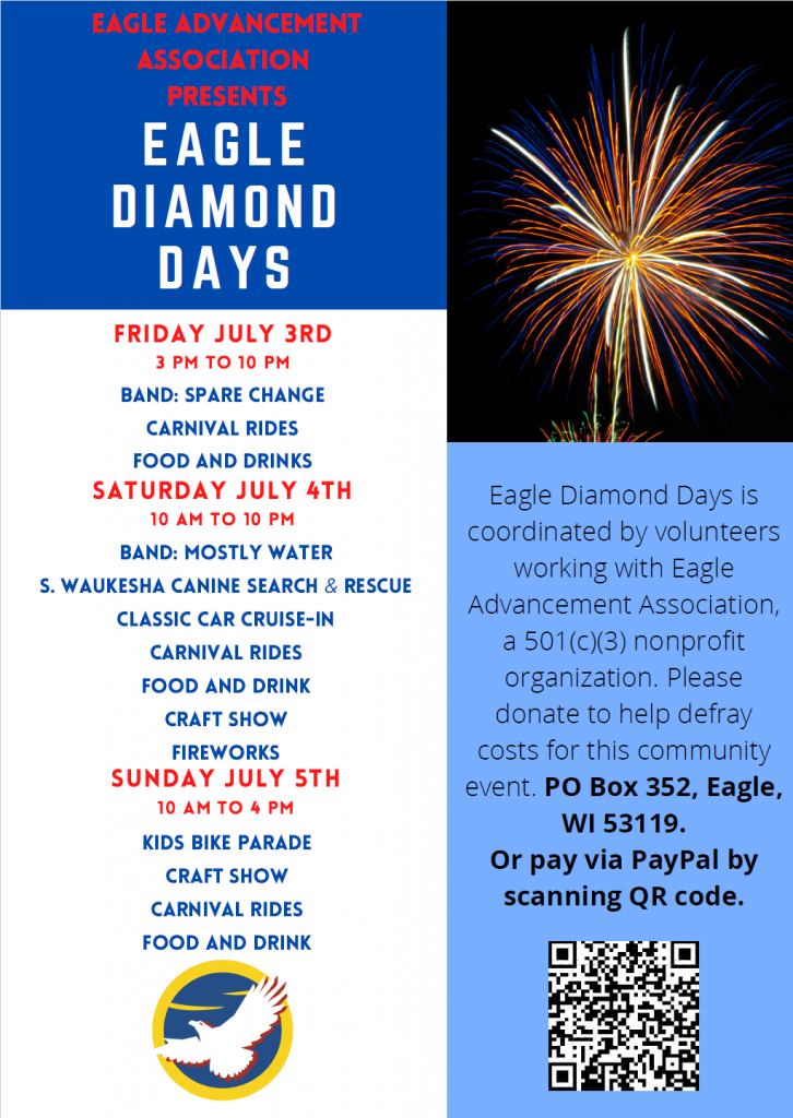 Eagle Diamond Days local festival July 3 - 5